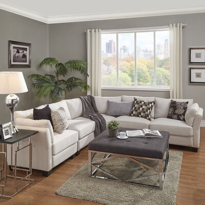 Alkmene Reversible Sectional Upholstery: White