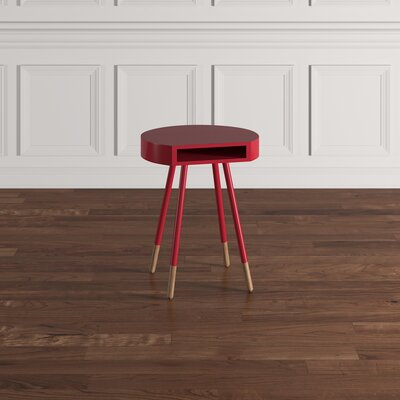 Camire End Table Finish: Samba Red