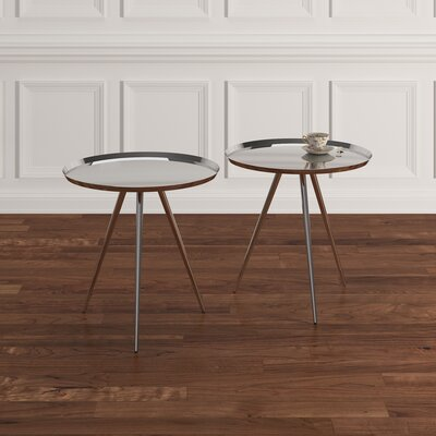 Calle 2 Piece Nesting Tables Finish: Chrome