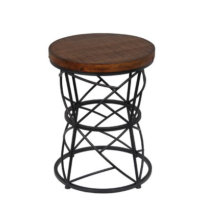 Arlene Round End Table Color: Medium Brown