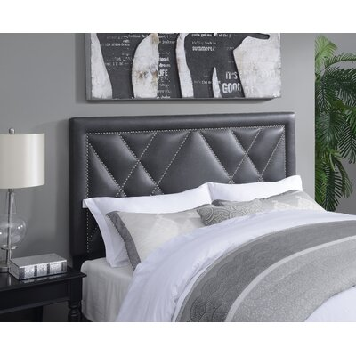 Garnes Upholstered Panel Headboard Size: King/Cal King, Upholstery Color: Steel