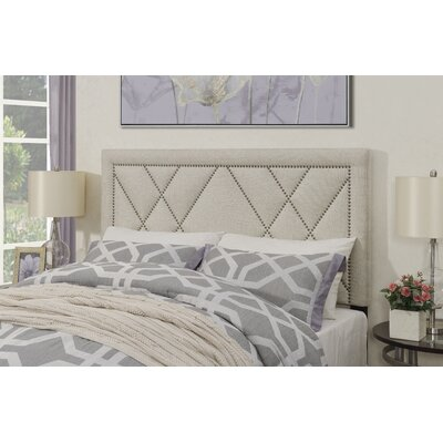 Garnes Upholstered Panel Headboard Size: Full/Queen, Upholstery Color: White
