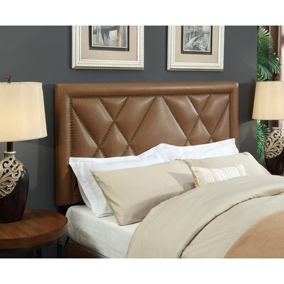 Garnes Upholstered Panel Headboard Size: King/Cal King, Upholstery Color: Brown