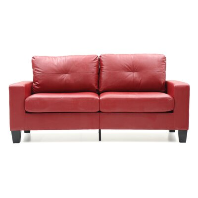Melantha Sofa Finish: Red
