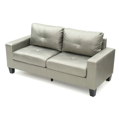 Tiff Modern Sofa Finish: Silver Antiqued