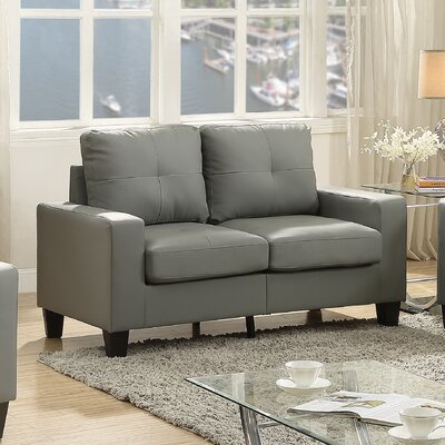 Tiff Modern Loveseat Finish: Gray