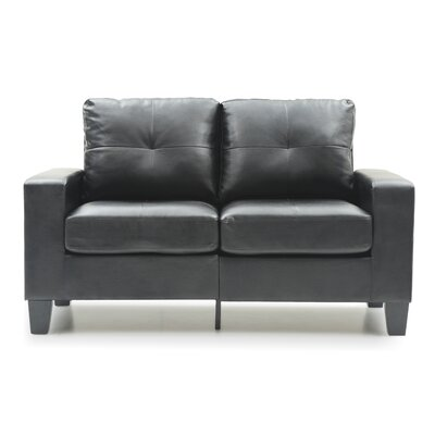 Modern Loveseat Finish: Black