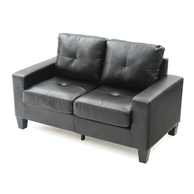 Tiff Modern Loveseat Finish: Black