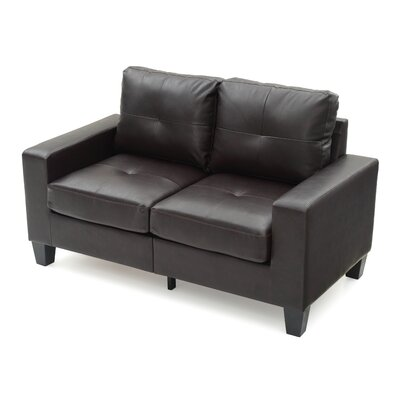 Tiff Modern Loveseat Finish: Cappuccino