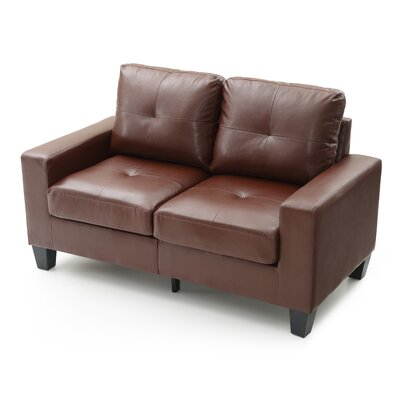 Tiff Modern Loveseat Finish: Brown