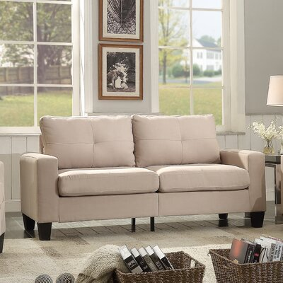 Modern Loveseat Finish: Beige