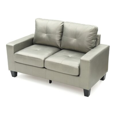 Tiff Modern Loveseat Finish: Antiqued Silver