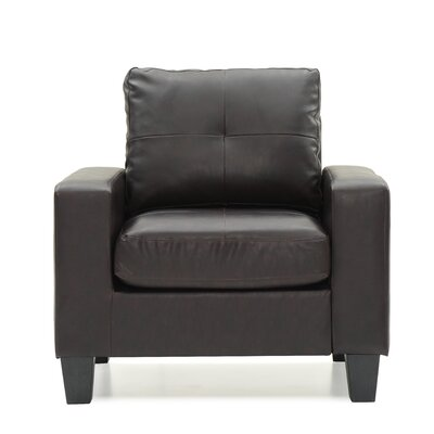 Tiff Solid Armchair Upholstery: Cappuccino