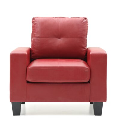 Tiff Solid Armchair Upholstery: Red