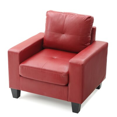 Tiff Armchair Upholstery: Red