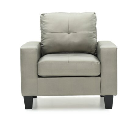 Tiff Solid Armchair Upholstery: Antiqued Silver