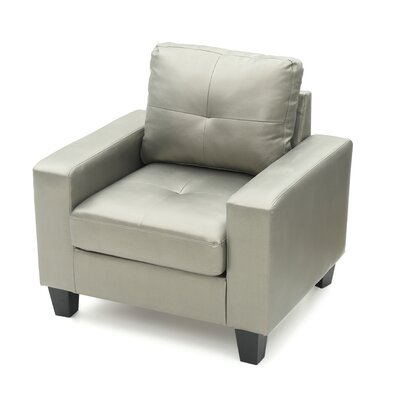 Tiff Armchair Upholstery: Antiqued Silver