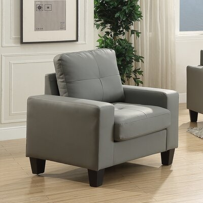 Melantha Arm Chair Upholstery: Gray