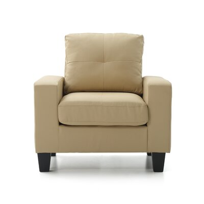 Tiff Solid Armchair Upholstery: Beige
