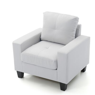 Tiff Solid Armchair Upholstery: White