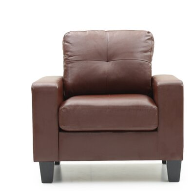 Tiff Solid Armchair Upholstery: Brown