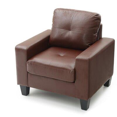 Tiff Armchair Upholstery: Brown