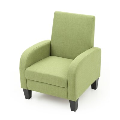 Tiff Modern Occasional Armchair Upholstery: Green