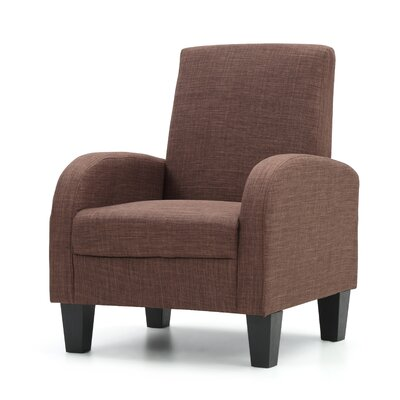 Tiff Armchair Upholstery: Brown