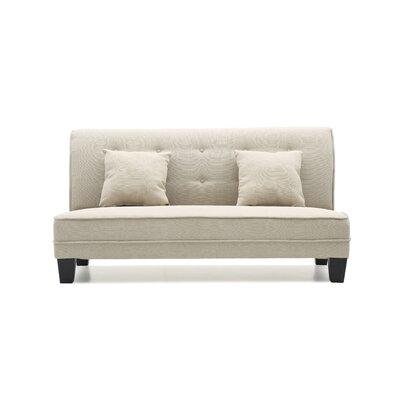 Melantha Settee Upholstery: Tan