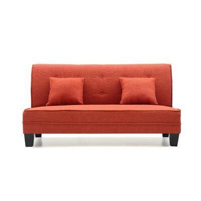 Melantha Settee Upholstery: Orange