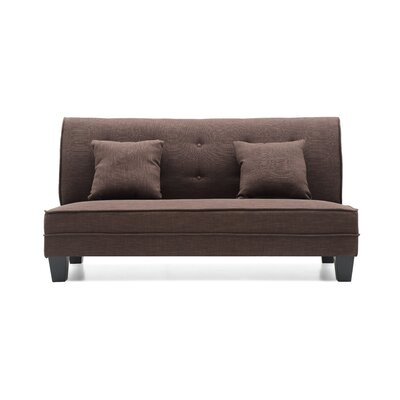 Melantha Settee Upholstery: Brown