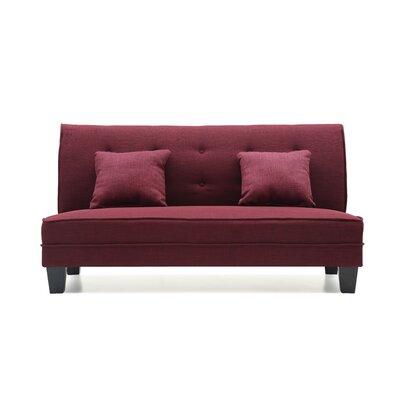 Melantha Settee Upholstery: Purple