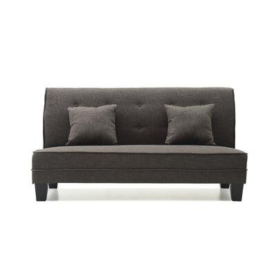 Melantha Settee Upholstery: Black