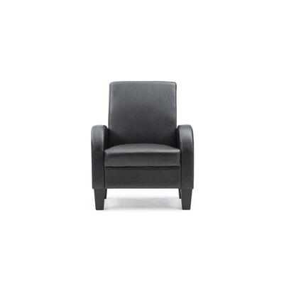 Melantha Occasional Club Chair Color: Black