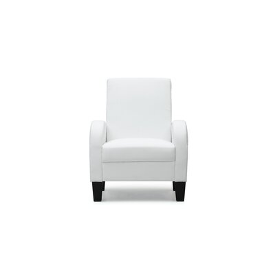 Melantha Occasional Club Chair Color: White