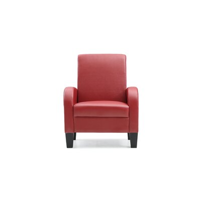 Melantha Occasional Club Chair Color: Red