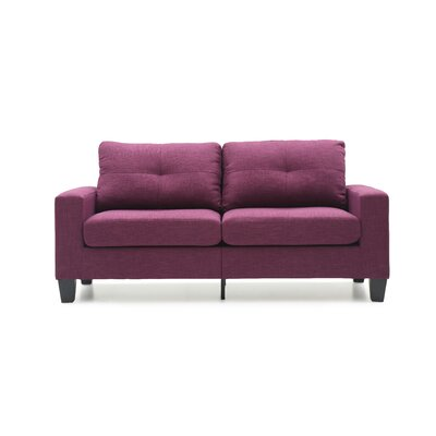 Melantha Sofa Finish: Berry