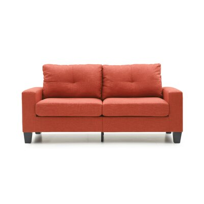 Tiff Sofa Finish: Orange