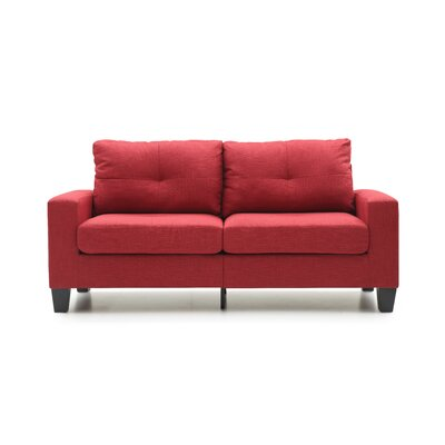 Tiff Sofa Finish: Red