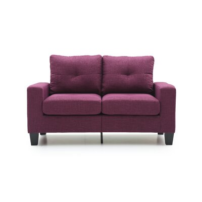 Tiff Loveseat Finish: Berry
