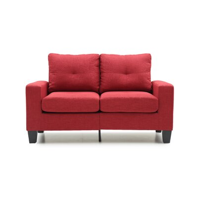 Tiff Loveseat Upholstery: Red