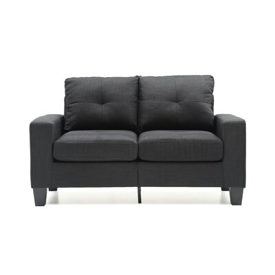 Tiff Loveseat Upholstery: Black