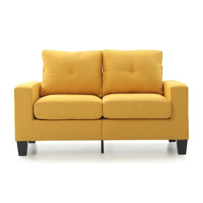 Tiff Loveseat Finish: Yellow