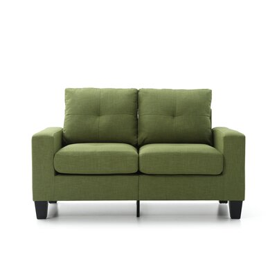 Tiff Loveseat Finish: Green