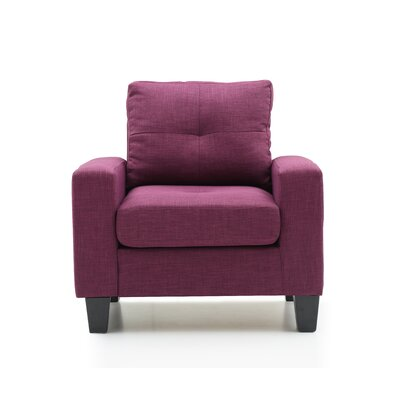 Tiff Armchair Color: Berry