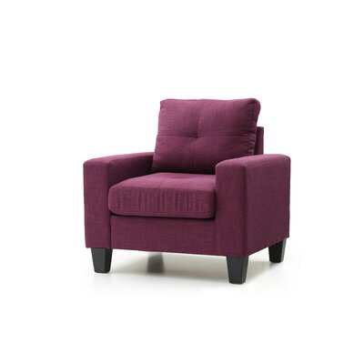 Tiff Armchair Upholstery: Berry