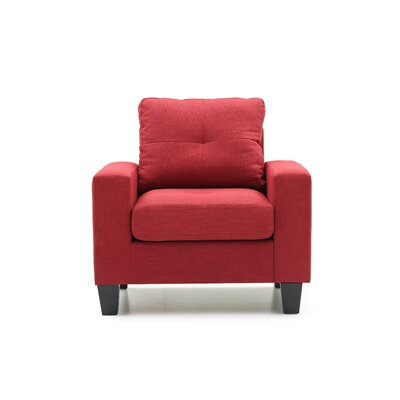 Melantha Arm Chair Color: Red