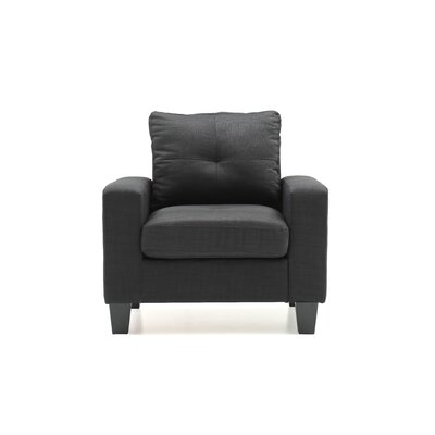 Tiff Armchair Color: Black