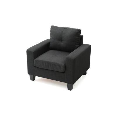 Tiff Armchair Upholstery: Black