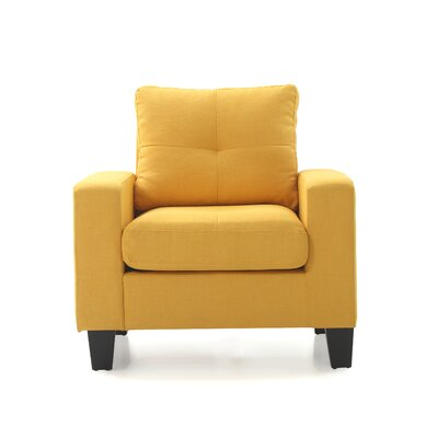 Tiff Armchair Color: Yellow